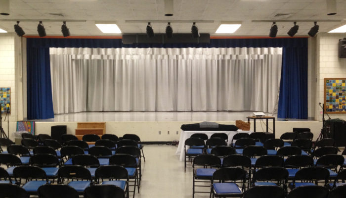 Elementary School Stage Curtain