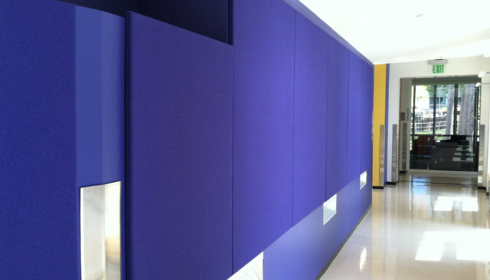 Koroseal Fabric-wrapped Acoustical Panels , UMASS