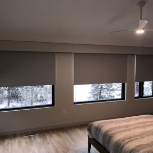 Room Darkening Motor-Operated Shades