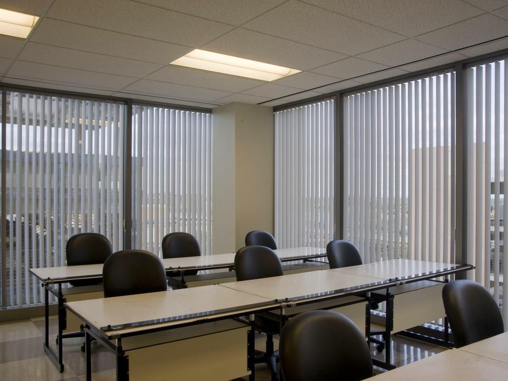 Vertical Blinds With Vinyl Louvers, Window Blinds