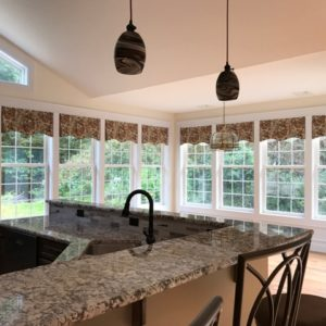 This Is A Picture Of A Wide Open And Bright Kitchen.